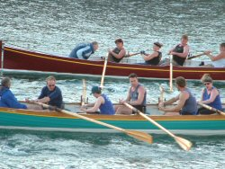 Porthleven pilot gig racing - race across the bay